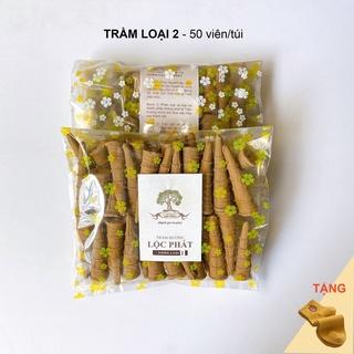 Nụ trầm hương lộc phát trầm loại 2 - trầm tự nhiên (túi 50 viên)