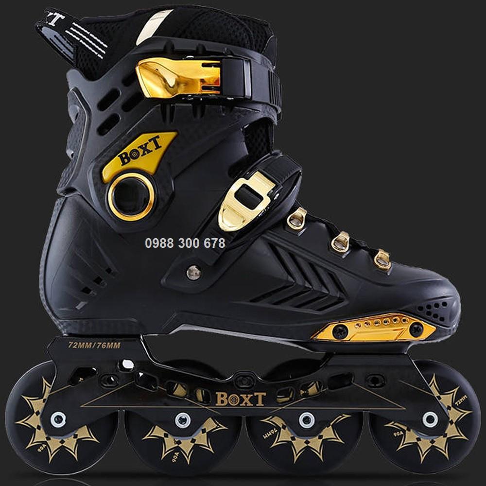 [Chính hãng] Giày patin người lớn BOXT màu đen vàng cao cấp