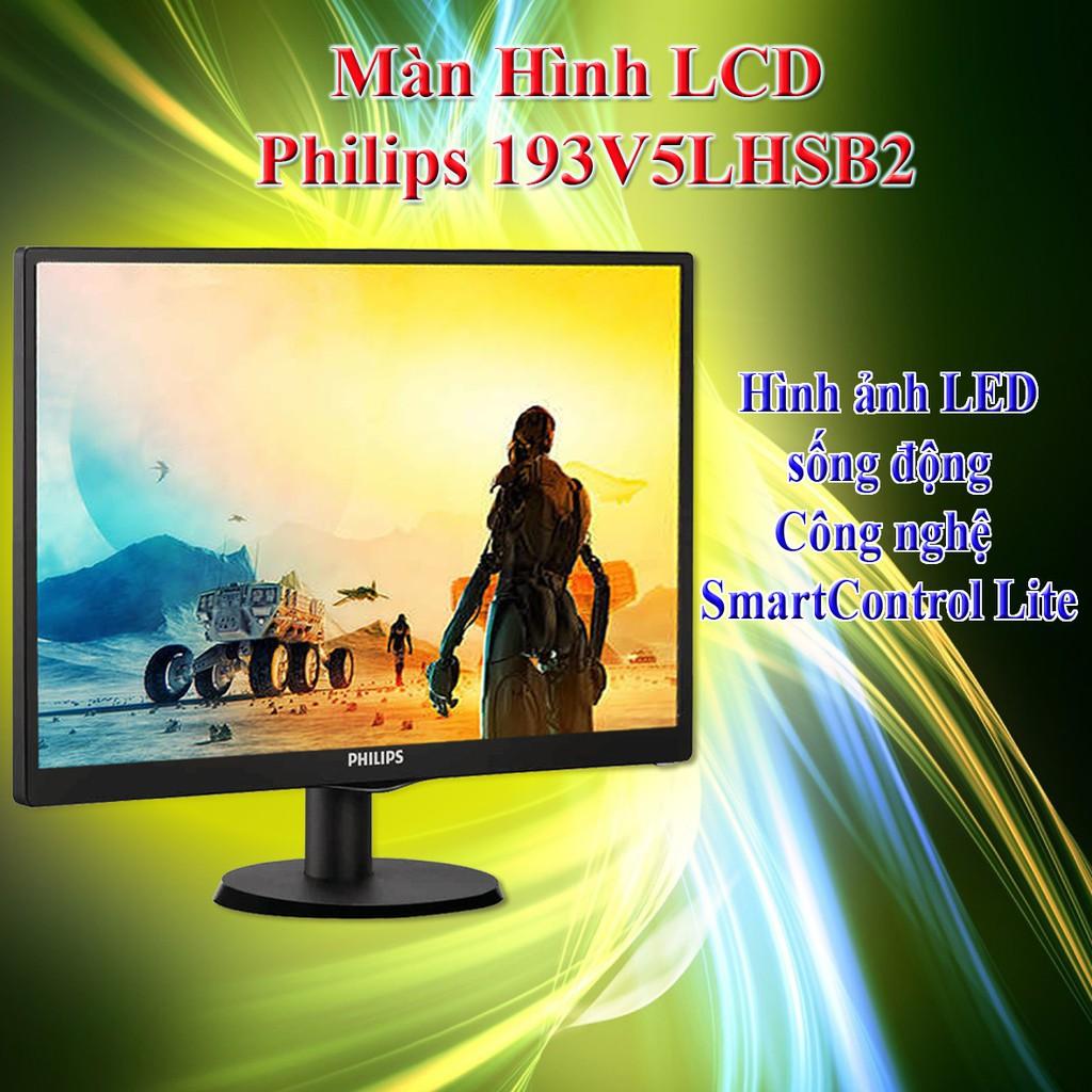 [FREESHIP 99K]_Màn hình LCD Philips 193V5LHSB2 (18.5 inch), bảo hành 36 tháng