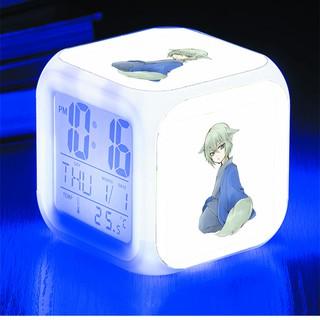 Đồng hồ báo thức để bàn in hình Kamisama Hajimemashita Thổ thần tập sự anime chibi LED đổi màu