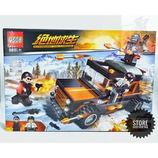 Lego PUBG QS08-67049 Ráp Xe Chiến Đấu – Playerukkoown's Baltlegrounds ( 426 Mảnh )