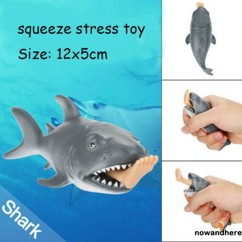 RRE-12cm Funny Toy Shark Squishy Stress Relief Toy Anti Stress Toy