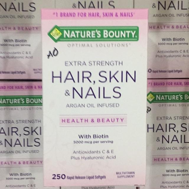 Viên Uống Hair, Skin & Nails ( 250 Viên ) - Nature's Bounty - Xuất xứ Mỹ