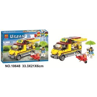 Lego city Urban 10648 xếp hình xe ô tô bán pizza
