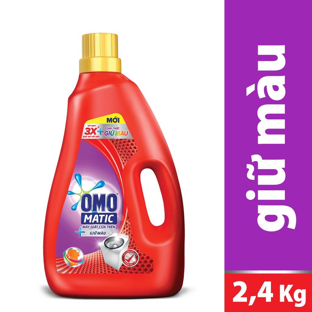 Nước giặt Omo Matic giữ màu chai 2.4kg (MSP 67225289)