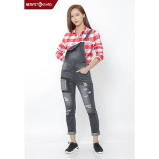 Quần yếm dài jeans Nữ TY103J124 GENVIET thumbnail