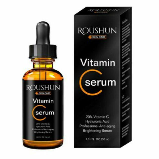 🇭🇰Serum Tinh Chất Vitamin C 20% Trị Mụn Giúp Da Sáng Khoẻ Roushun