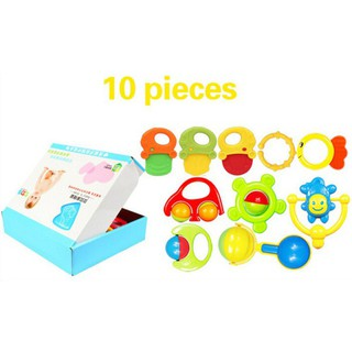 6 Pieces 10 Pieces or 14 Pieces of Newborn Baby Bell Toy Set Puzzle Early