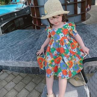 Váy hoa đan sau dành cho bé