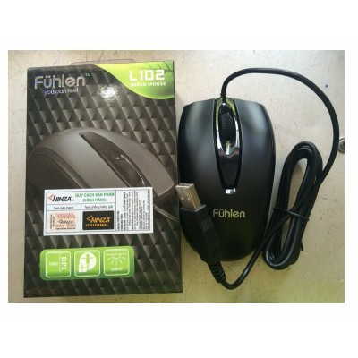 Chuột máy tính Fuhlen L102- Hàng chính hãng Ninja bảo hành 2 năm Giá chỉ 100.000₫