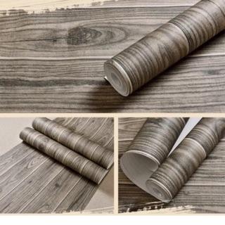 Yêu ThíchGiấy dán tường giả gỗ lát 3D khổ 53cm ( dùng keo dán) 10m