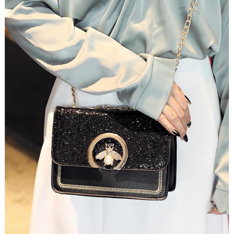 Túi xách nữ  𝑭𝑹𝑬𝑬𝑺𝑯𝑰𝑷  Túi đeo chéo mini hàng quảng châu siêu hot TXOV