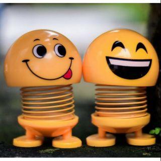[ SIÊU HOT] Combo 2 con thú nhún emoji lò xo, thú nhún hình mặt cười trang trí lò xo cảm xúc (giao ngẫu nhiên)