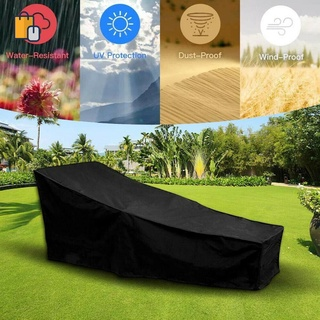 Waterproof Sunbed/Sun Lounger Outdoor Garden Furniture Cover Patio Rattan Bed Furniture Covers Dustproof Furniture Cover Waterproof Furniture Cover Cloth Furniture Covers Chair Furniture Covers Sofa OUYOU