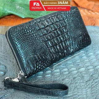 Ví nữ cầm tay Fadoda cao cấp da cá sấu 1 khóa kéo thiết kế màu đen sang trọng dễ dàng phối đồ - FCW22-02L thumbnail