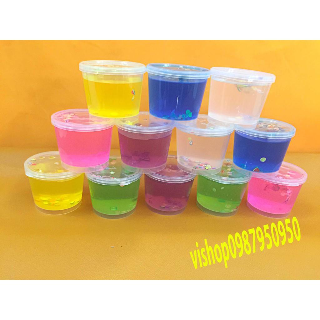 đồ chơi slime hoa quả hộp to - slime mềm dẻo mã WXI9 Gtu9z