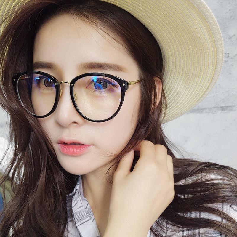 🔥 Tàu du lịch hôm nay 🔥Mắt kính gọng tròn phong cách Retro Hàn Quốc thời trang cho nữ