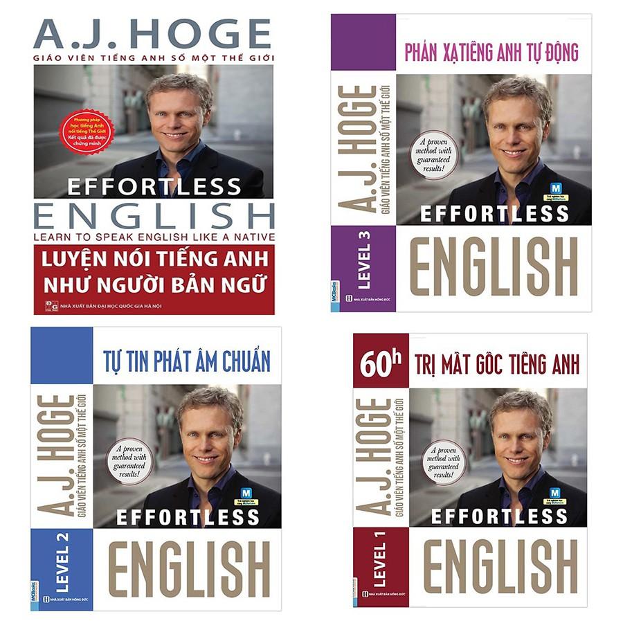 Sách - Combo Bộ 4 Cuốn Effortless English - Học Tiếng Anh Như Người Bản Ngữ Cùng Aj Ho   Shopee Việt Nam