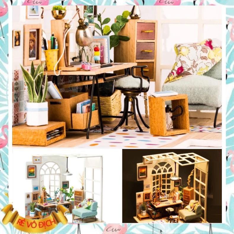 [Hàng Đẹp] Đồ chơi lắp ráp gỗ 3D Mô hình Nhà DIY Doll House SOHO Kèm Đèn LED (hàng ord...