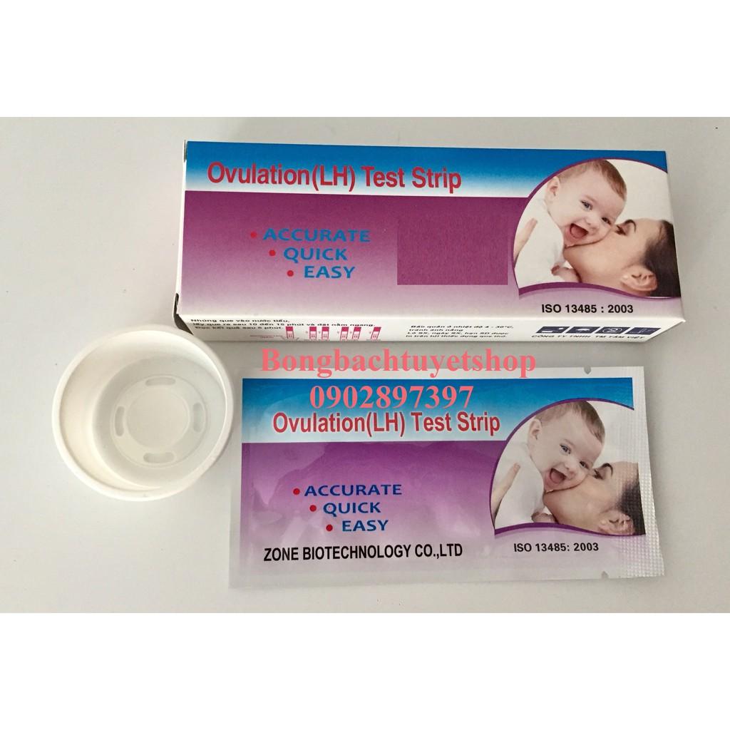 Combo 10 Que Thử Rụng Trứng, Que canh ngày rụng trứng sinh con theo ý muốn, ngừa thai hiệu quả ( 10 Que )