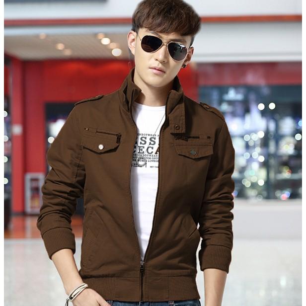 (tomboy) (4 màu) Áo khoác nam kaki cao cấp