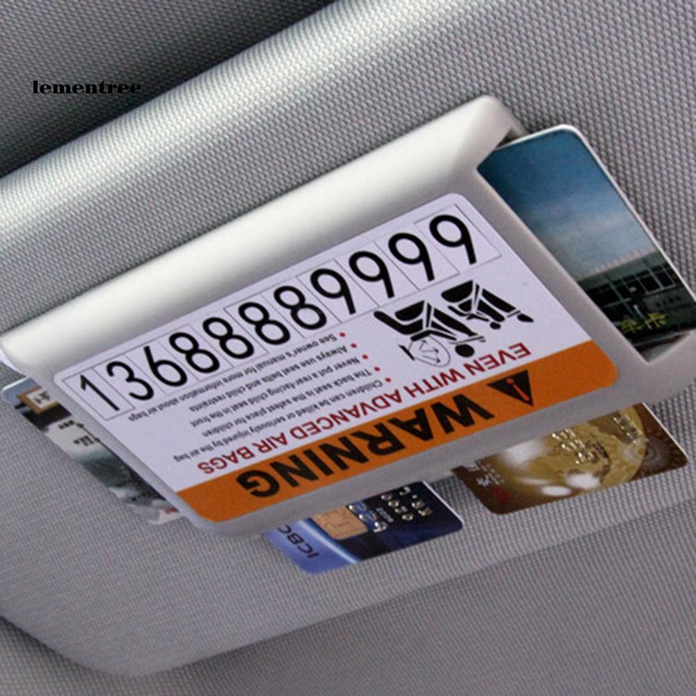 Túi Đựng Thẻ Gắn Tấm Che Nắng Xe Hơi Tiện Dụng