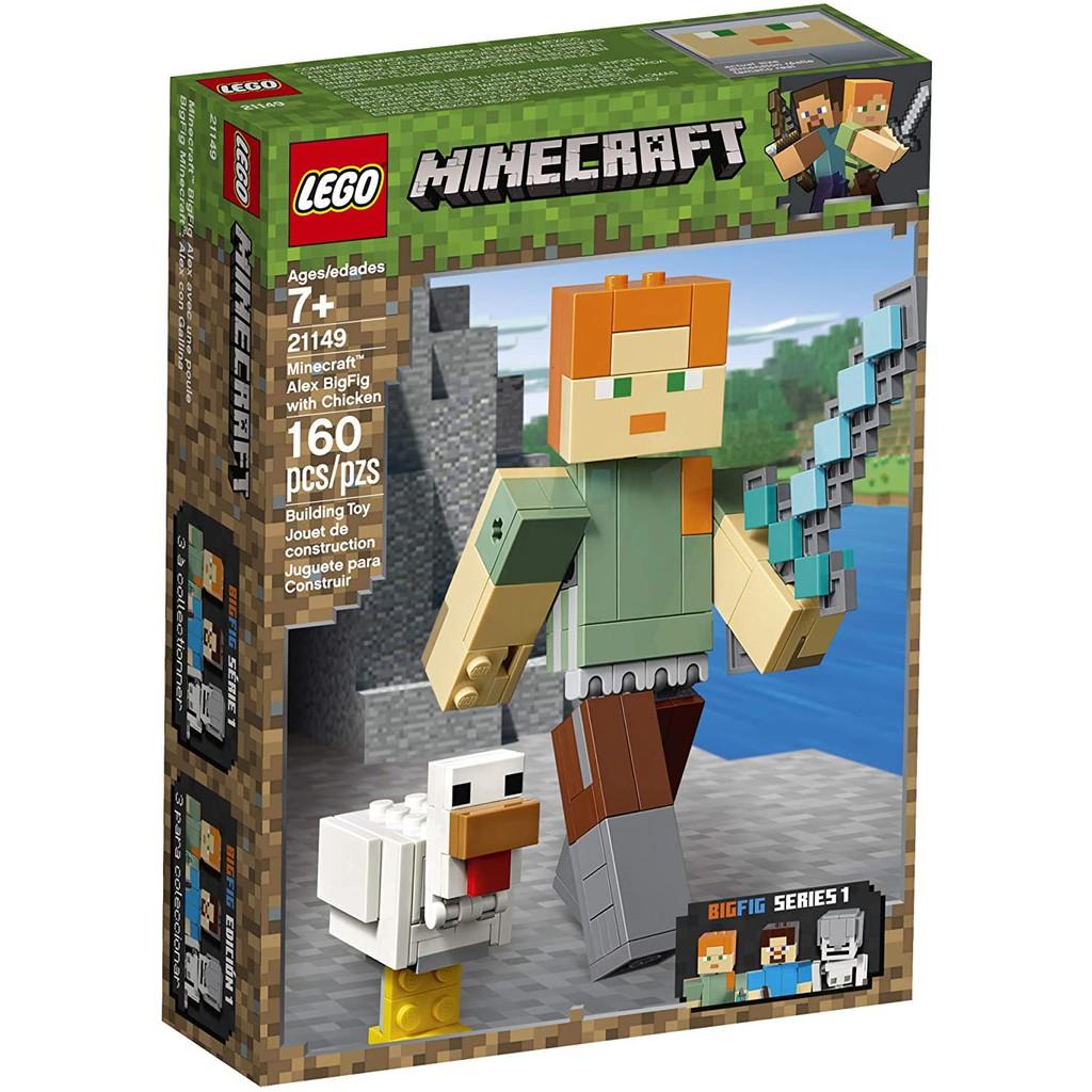 Đồ chơi LEGO MINECRAFT - Alex Khổng Lồ Và Gà - Mã SP 21149