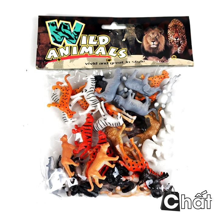 Bộ đồ chơi mô hình 36 thú mini cho bé 886