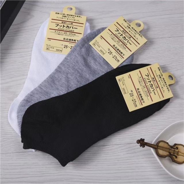 Vớ tất nam nữ Nhật cotton 100% HIRUMA T02