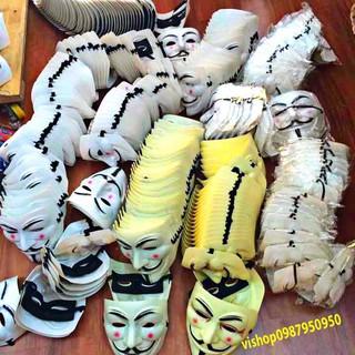 MẶT NẠ HÓA TRANG HACKER anonymous màu trắng (bán sỉ 9k)-r87