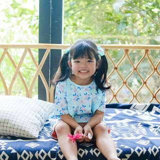 Áo vải hoak tiết bé gái Amprin AG479