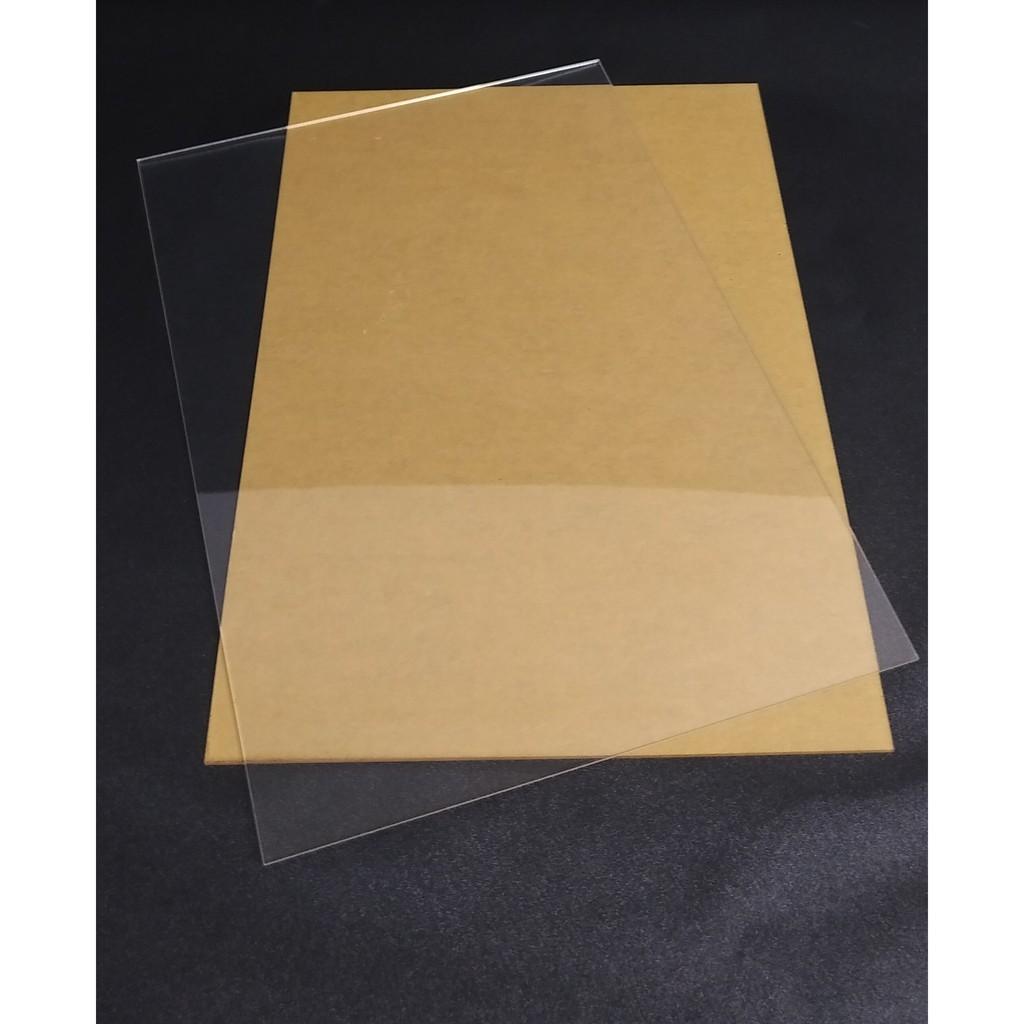 Bộ 5 Tấm nhựa mica trong suốt 20x10cm dày 1.2mm, 1.8mm, 2.8mm và 4.5mm