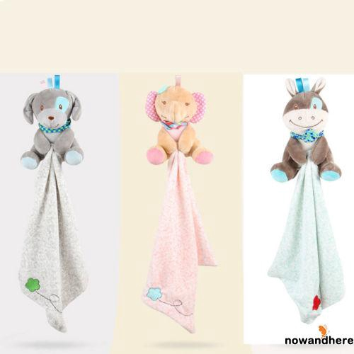 AON-Toddler Baby Security Blanket Infant Appease Towel Play Animal Doll