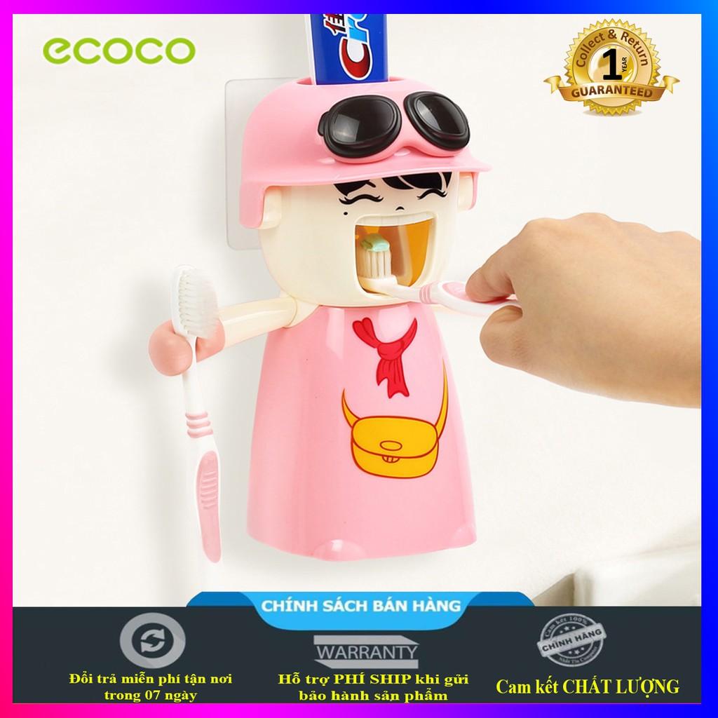 Kệ treo bàn chải đánh răng, nhả kem tự động, có cốc kèm theo, dành cho trẻ em Ecoco - E1306 (đủ màu lựa chọn)