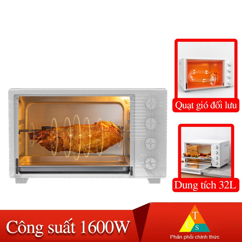 [Mã SKAMPUSHA8 giảm 8% đơn 300K] Lò nướng điện Xiaomi Mijia Oven 32L XDE1
