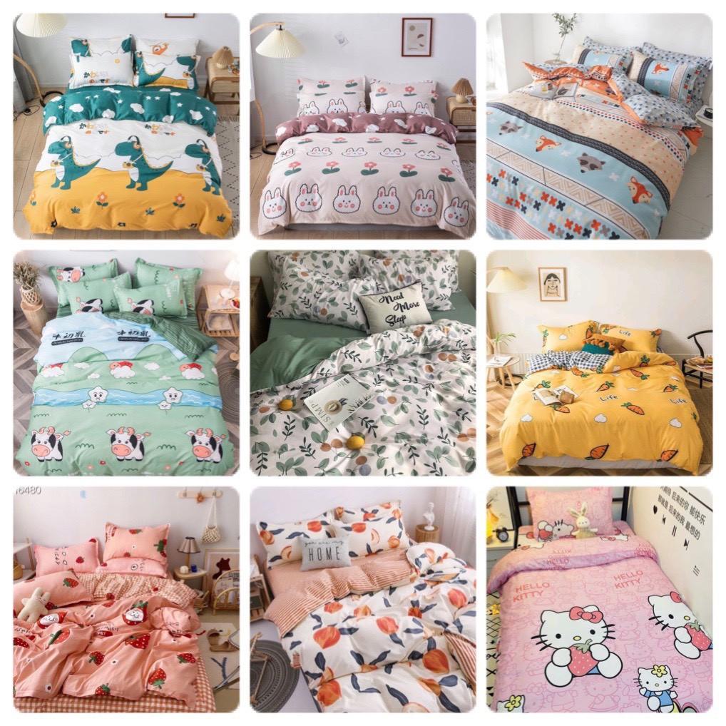 Bộ chăn ga gối Cotton poly M2T Bedding đáng yêu chăn ga Hàn Quốc miễn phí bo chun drap ga g