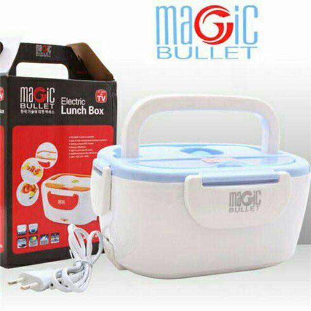 Hộp cơm hâm nóng Inox cắm điện Magic Bullet Electric Lunch Box - 2477852 , 1371172 , 322_1371172 , 195000 , Hop-com-ham-nong-Inox-cam-dien-Magic-Bullet-Electric-Lunch-Box-322_1371172 , shopee.vn , Hộp cơm hâm nóng Inox cắm điện Magic Bullet Electric Lunch Box