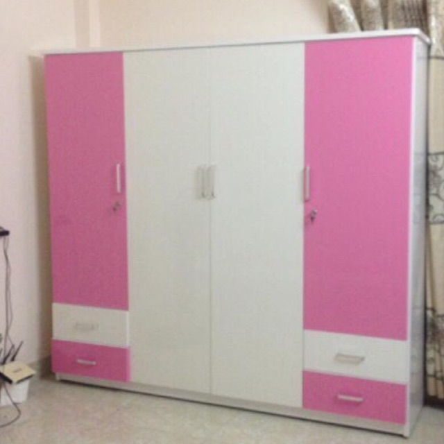 (shop mall) Tủ nhựa đài loan 4 buồng  4 ngăn kéo sang trọng cho vợ chồng mới cưới - H