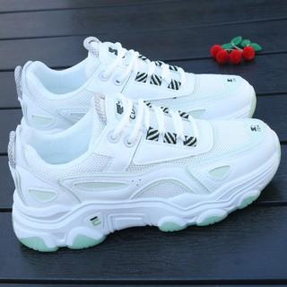 Giày NữinsThủy Triều Mùa Xuân Dày Lưới Màu Đỏ Siêu Lửa Hoang Dã Giày Thể Thao2021Chân Nhỏ Thoáng Khí Màu Trắng thumbnail