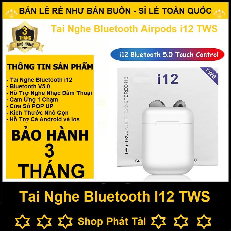 Tai nghe bluetooth i7s i9s i11 i12 Âm Thanh Cực Hay - Có Mic Đàm Thoại - Bluetooth 5.0 ( nghe 2 tai có ảnh thật )