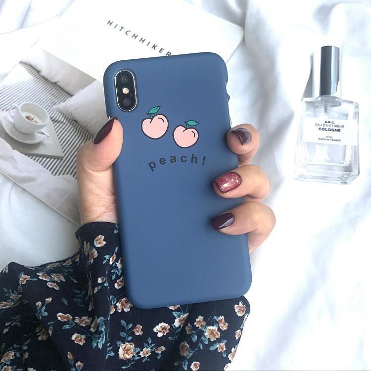 Ốp lưng điện thoại nhựa cứng iPhone X XS MAX XR 6 6S 7 8 Plus 6P 7plus 8plus màu xanh Navy