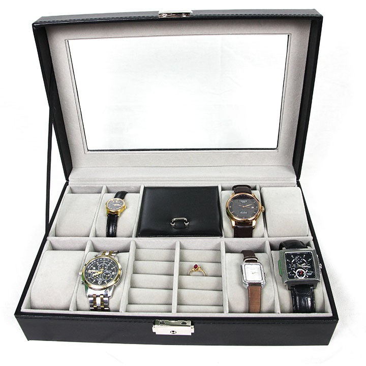 Hộp đựng đồng hồ 8 chiếc và trang sức tiện lợi sang trọng