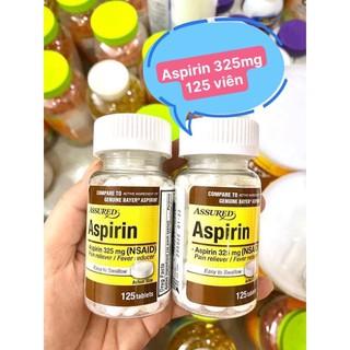 hộp assured aspirin 325mg 125 viên nội địa mỹ