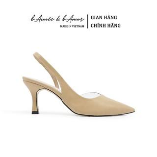 Giày Cao Gót Nữ bAimée & bAmor Slingback Vintage Quai Hậu Mũi Nhọn Bit Mũi Gót Nhọn Hàn Quốc Đẹp Cao Cấp MS1562
