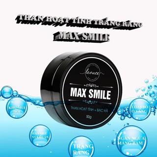 ( TẶNG BÀN CHẢI ) THAN HOẠT TÍNH TRẮNG RĂNG MAX SMILE Khử Mùi Hôi Miệng, Răng Trắng Sáng Tự Nhiên