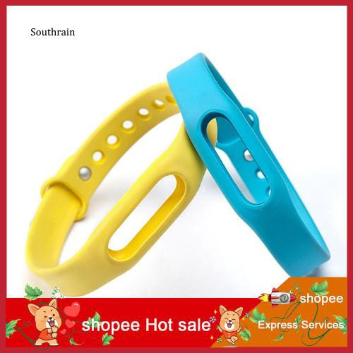 STRN_Replacement Silicone Wrist Strap Bracelet Wristband for Xiaomi Mi Band 1 1S