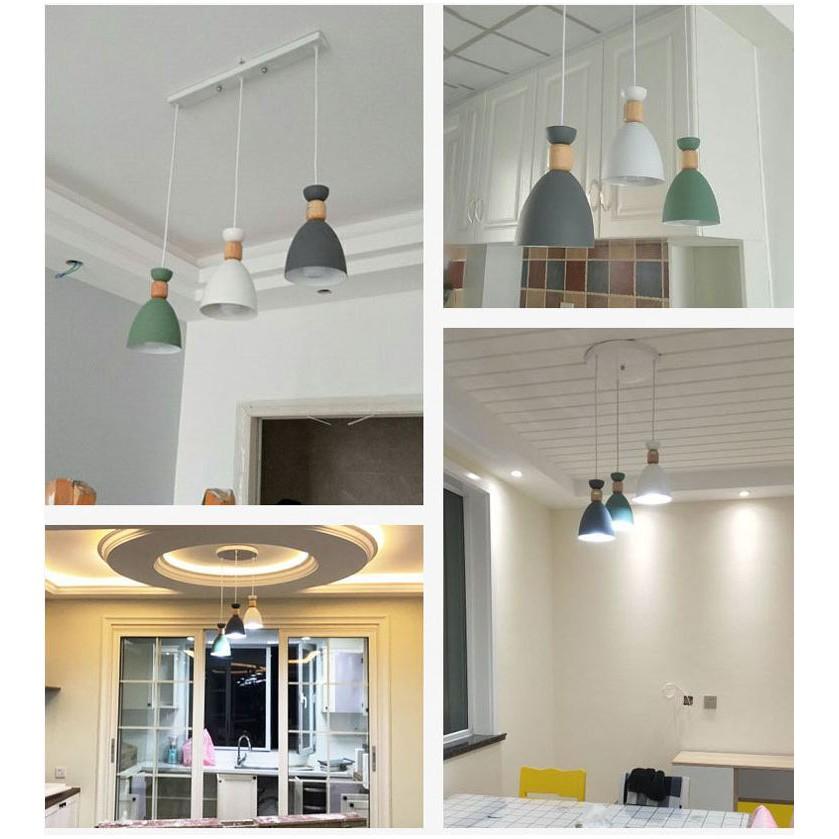 Bộ đèn thả HATSMED cao cấp kèm bóng LED chuyên dụng và đế ốp trần