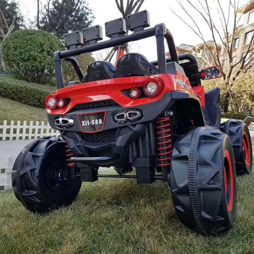 [HOT] Siêu xe Ô tô điện trẻ em siêu địa hình XJL 588 đồ chơi vận động cho bé 2 ghế 4 động cơ