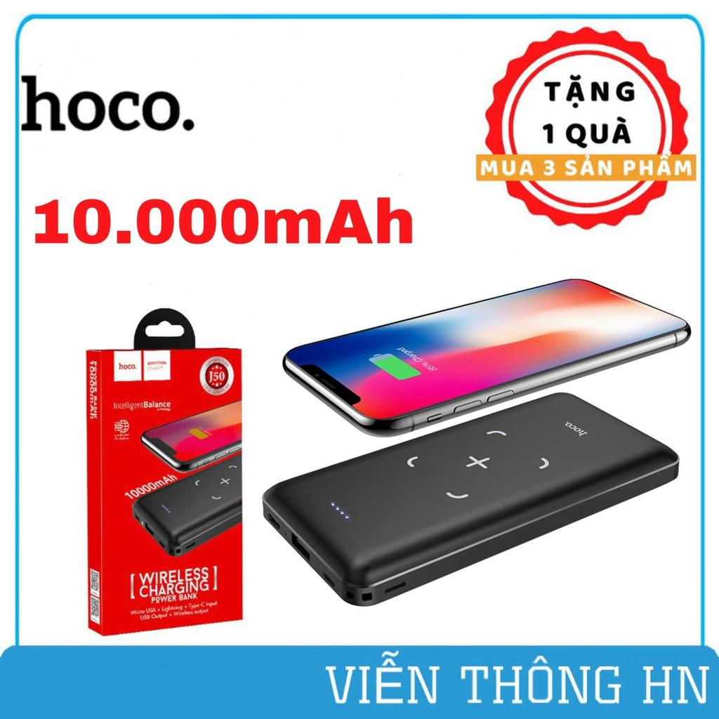 Pin sạc dự phòng không dây 10000mAh Hoco j50 - cục sạc dự phòng 3 cổng  input/output cho iphone samsung oppo...vv