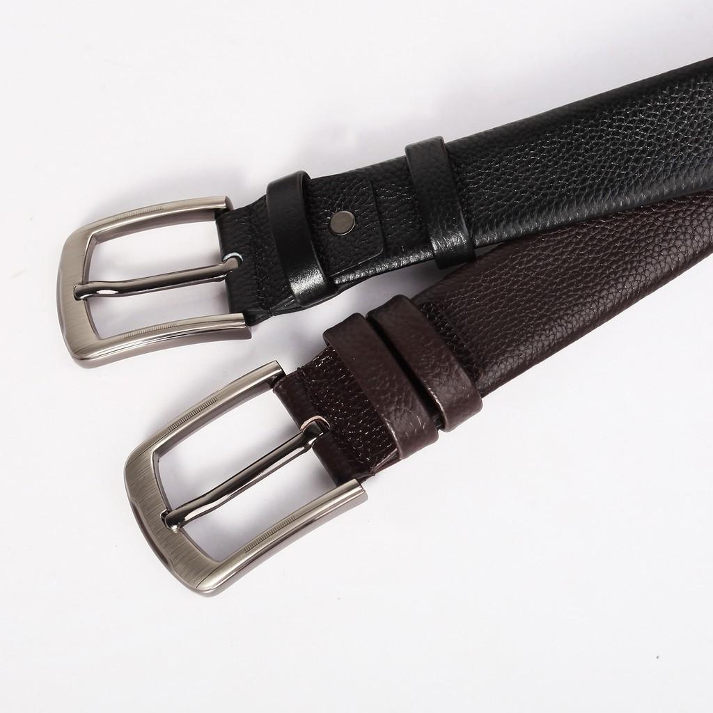 Thắt lưng nam da bò 4U thời trang   (đen - nâu)